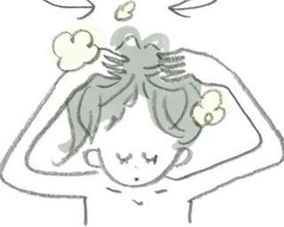 毛穴にたまった汚れを洗い出している女性の漫画の画像.jpg